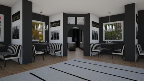 B and W Cafe - Modern - Dining room - by millerfam