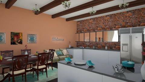 southwestern kitchen - Rustic - Kitchen - by dwoods
