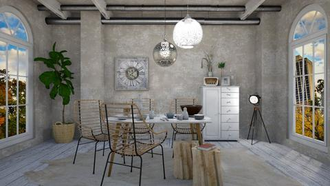 Shabby Chic Style 2 - Dining room - by JarkaK