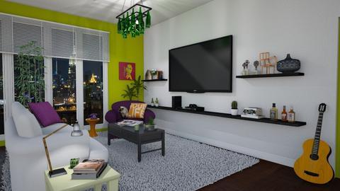 green living room - Modern - Living room - by Talia Fernanda