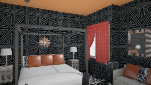 Heavy Slumber - Retro - Bedroom - by Varsha Liston