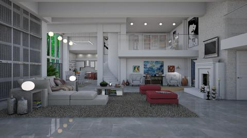 open plan  - Modern - Living room - by Ida Dzanovic