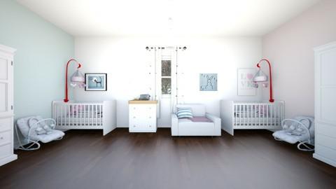 twins bedroom new born - Modern - Kids room - by newyork4everloved