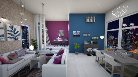 expat apartment - Living room - by Phoenix_shruti
