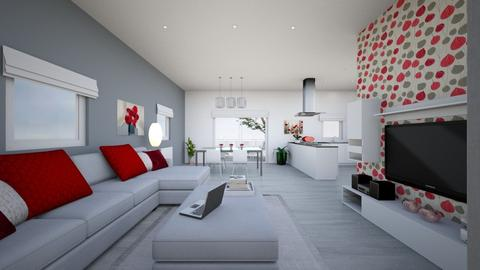 kitchen appartment - Modern - Living room - by tornadolynn
