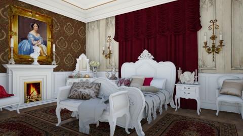 Chateau Bedroom 1 - Glamour - Bedroom - by DeborahArmelin
