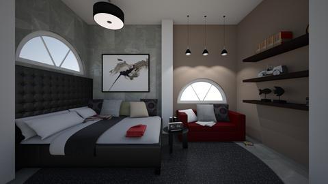 Small Bedroom 9 - Modern - Bedroom - by XiraFizade