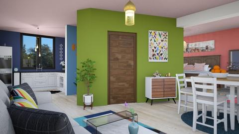 Living room and kitchen - Modern - by zayneb_17