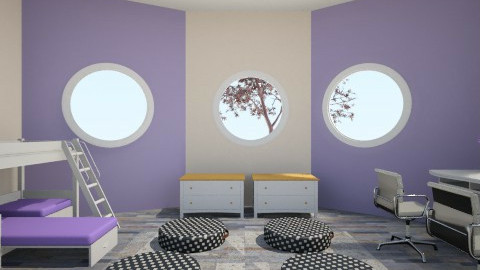 Perfectly Purple Twins - Eclectic - Bedroom - by Enaj