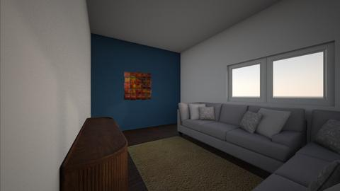 living room 1 blue - Modern - Living room - by dixxon