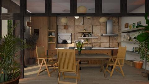 Wood - Kitchen - by ZuzanaDesign
