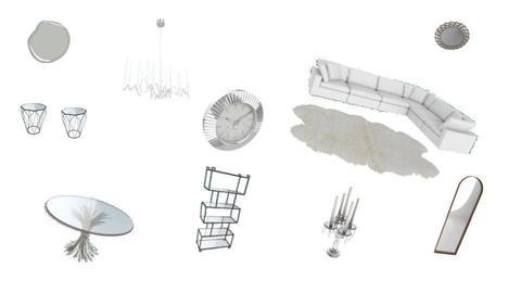simple gray living room - by Yana Kutsak