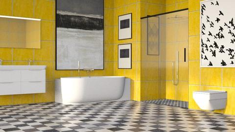 Yellow Bath Tiles - Eclectic - Bathroom - by millerfam