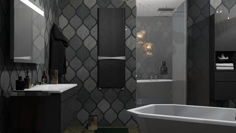 M_Dark bathroom - Bathroom - by milyca8