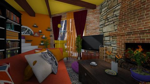 kotage living room with v - by Moriia