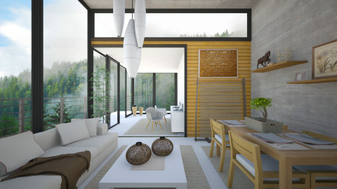 Japanese Accents - Modern - Living room - by KRdesign