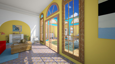 Mexican Dreams - Living room - by zellowiz