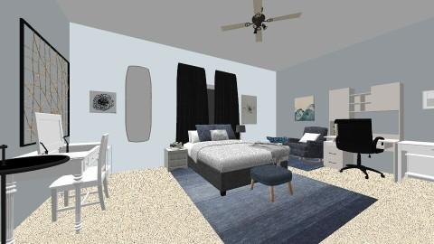 Blue Escape - Bedroom - by serafinn