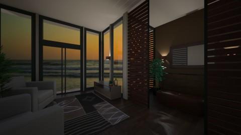 Beach House Sunset - Modern - Living room - by abbywabby1