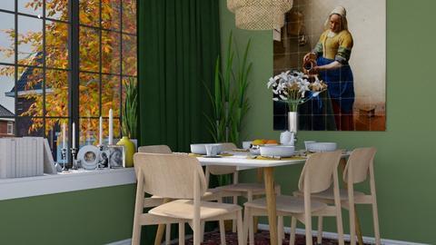 Green Family Dining - Modern - Dining room - by HenkRetro1960
