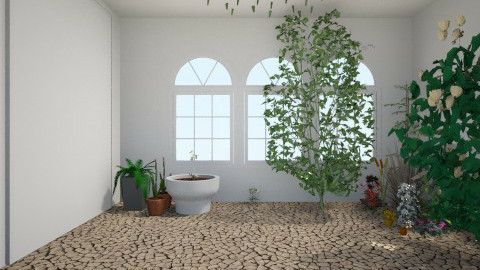 sitting room and garden r - Rustic - Garden - by Katie Brown_910