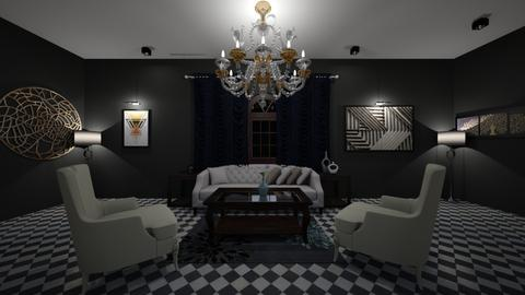 Black N White Living - Living room - by Katie Khambata
