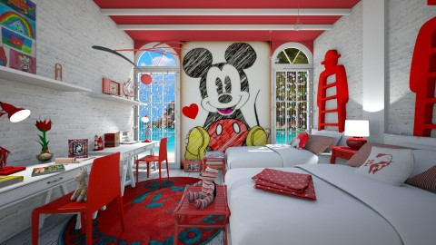 mickey mouse red - Kids room - by rasty