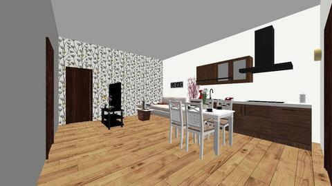 Troj izbovy kontaj dom - Living room - by romansuroviak