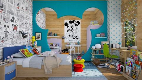 Mickey_world  - Eclectic - Kids room - by Ida Dzanovic