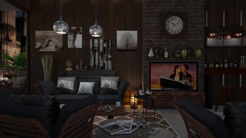 M_Simple home watching TV - Living room - by milyca8
