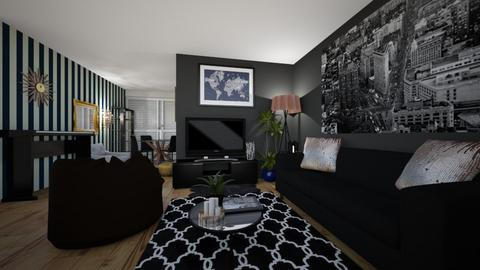 living room side1 - Country - Living room - by zainab alkaram