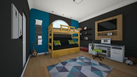 Boys bedroom - Modern - Bedroom - by sarahbatty