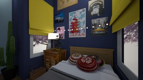 Maximalist Boho  - Bedroom - by Ellzbee