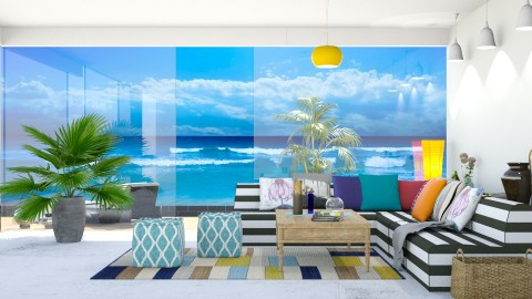Beach House - Retro - Living room - by Uroosa Bint E Haroon