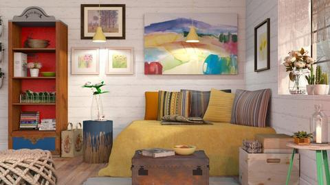 Bohemian Life - Vintage - Living room - by Sally Simpson