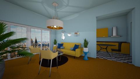 Orange Carpet - Living room - by junicorn19