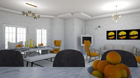 YELLOW  - Living room - by matina1976