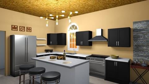 Black Chic - Kitchen - by LunaMusic