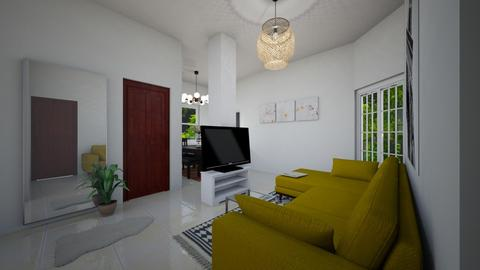 Small Living View 1 - Living room - by Sally Haridi