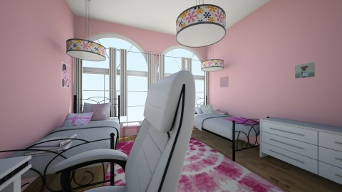 Girly dorm room - by micah17_