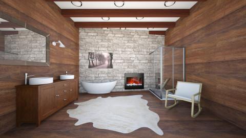 Chalet Bathroom - Rustic - Bathroom - by diplaschy