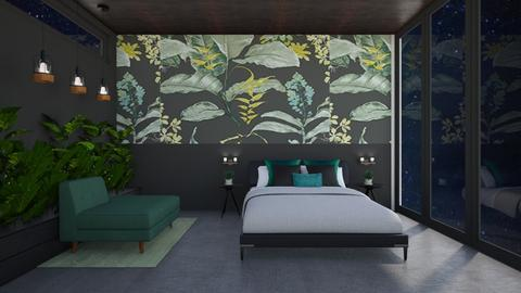 urban jungle bedroom - by pingbubbles