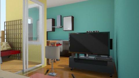 spark of Green 9 - Minimal - Living room - by herjantofarhan