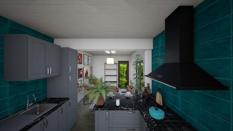 casa do gabriel cozinha - Kitchen - by jupitervasconcelos