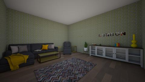 gray and yellow - Living room - by Morgan_22