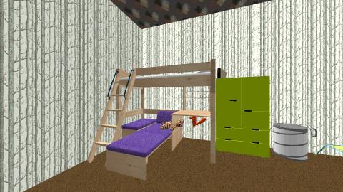 Boy Camouflage Room - Rustic - Kids room - by Mikki Rose