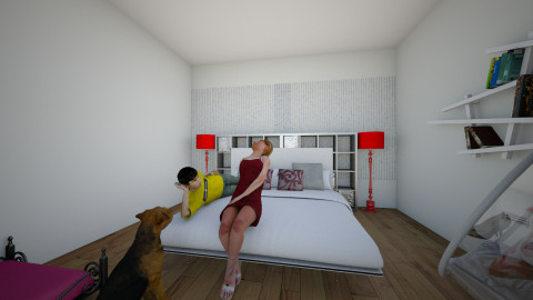 red - Modern - Bedroom - by Katherine Gilbert