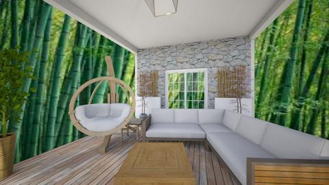 Bamboo garden deck - Garden - by Jojo Bear