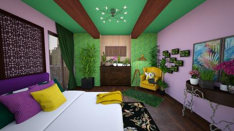 the urban jungle - Bedroom - by aneczkalab