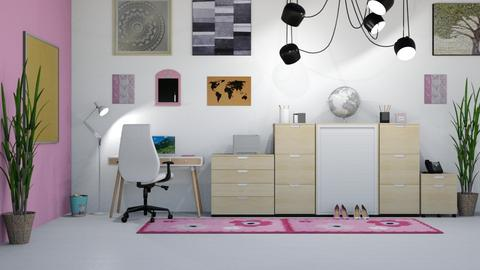 Pink Office - Modern - Office - by millerfam